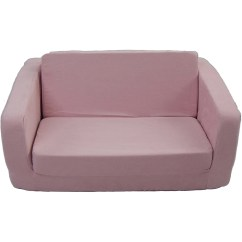Toddler Flip Sofa Cover Sectional Leather Reclining Light Pink Micro Walmart Com