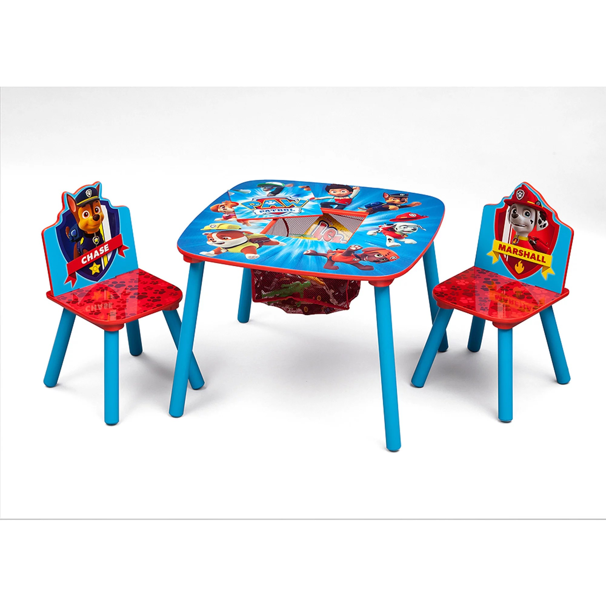 walmart table and chair sets vintage styles nick jr paw patrol wood kids storage chairs set by delta children com