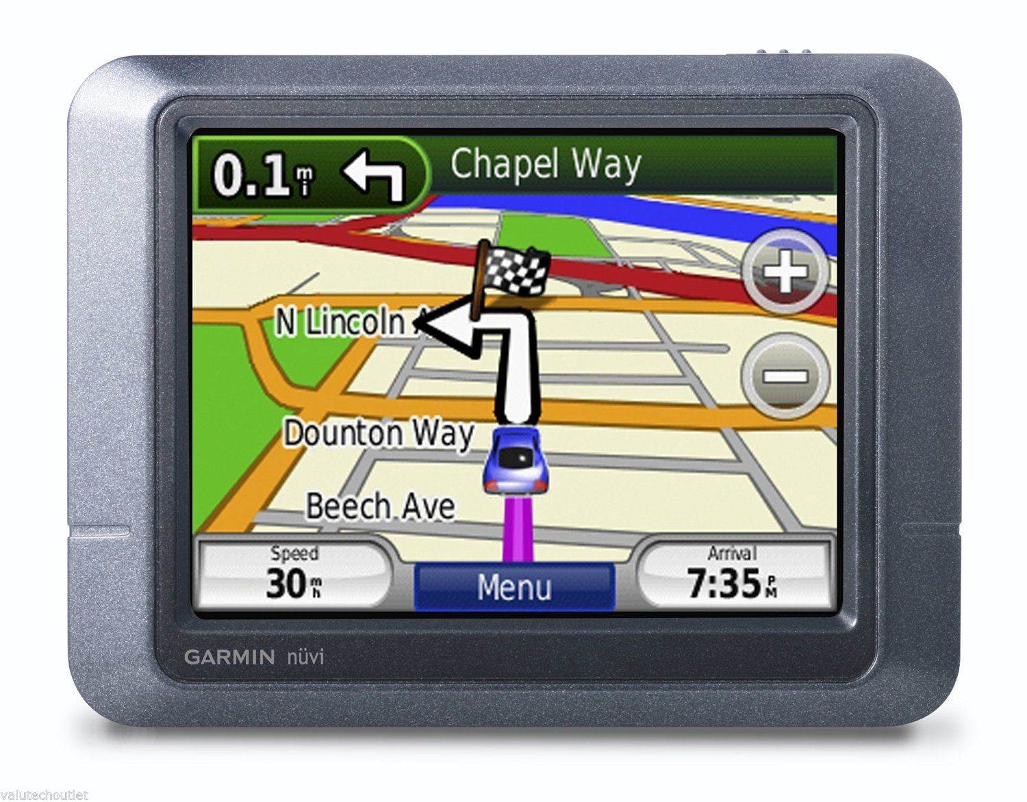 7 way navigation 4 round trailer wiring diagram garmin nuvi 205 3 5 touchscreen portable gps system with 2d or 3d maps and travel tools gray new open box walmart com