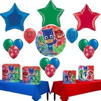 PJ Masks Party Supply and Balloon Decoration Bundle ...