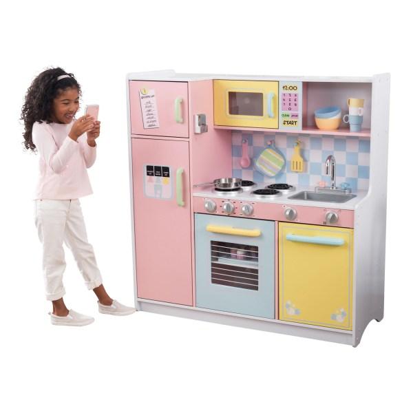 kidkraft large pastel play kitchen KidKraft Large Pastel Kitchen - Walmart.com