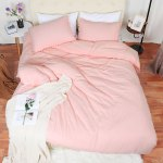 Pompon Duvet Cover And Sham Set Queen Size Bedding Soft Washed Cotton Pink Walmart Canada