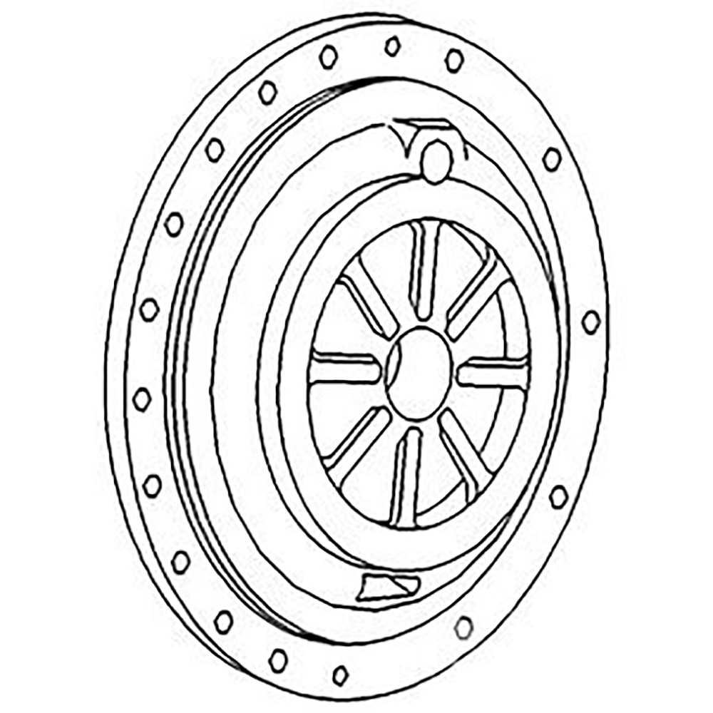 1687864M1 LH Differential Carrier Plate Made for Massey