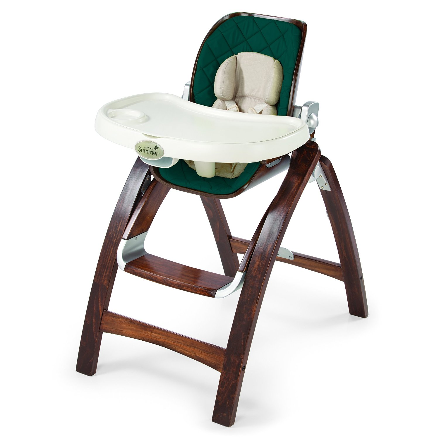 Wooden High Chairs For Babies Keekaroo Height Right High Chair With Tray Espresso