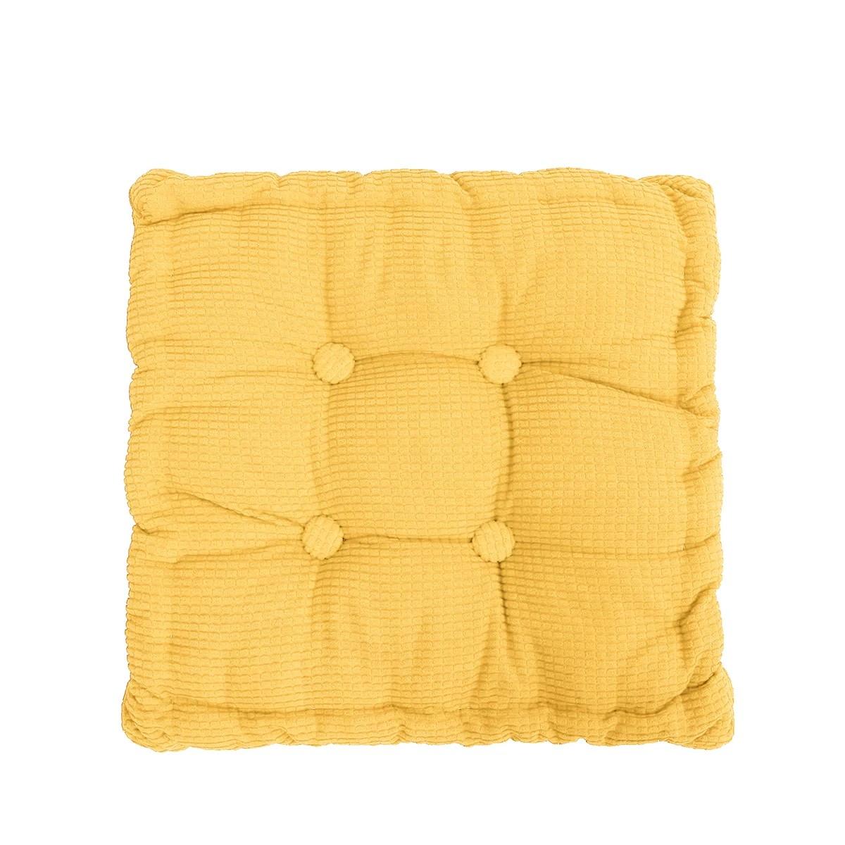20x20 inch comfortable corduroy tufted cushion solid soft thicken corduroy chair cushion seat pad tatami floor cushion for living room balcony garden