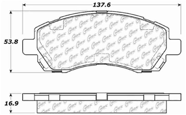 Go-Parts » 1997-2000 Subaru Legacy Front Disc Brake Pad