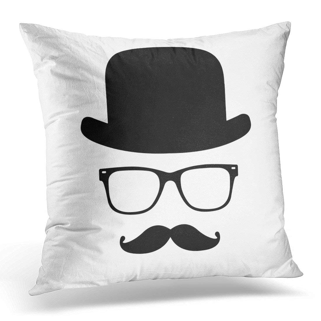 arhome mustache invisible man hat glasses gentleman english person pillow case pillow cover 20x20 inch walmart com