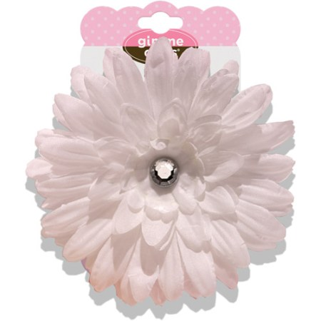 gimme clips fresh flower hair clip white walmart