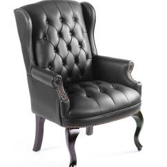 Traditional Wingback Chair Covers In Canada Boss Office Products Burgundy Style Executive Guest Walmart Com