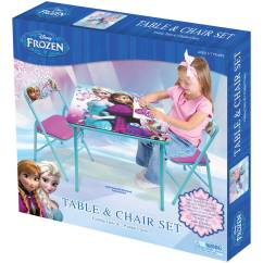 Small Table And Chairs For Toddlers Slipcovered Swivel Chair Disney Frozen Activity Set Walmart Com