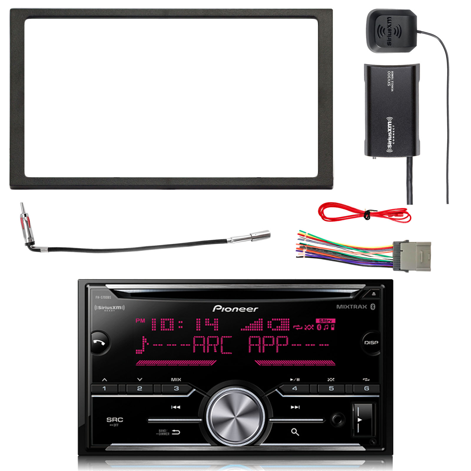 hight resolution of pioneer double din cd bluetooth siriusxm ready receiver siriusxm satellite radio tuner kit double din install dash kit stereo wiring harness
