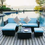 Clearance 6pcs Outdoor Patio Furniture All Weather Wicker Patio Set Rattan Sofa Set For Backyard Durable Outdoor Garden Cushioned Seat With Coffee Table Bistro Table Set For Poolside Q1424 Walmart Com Walmart Com