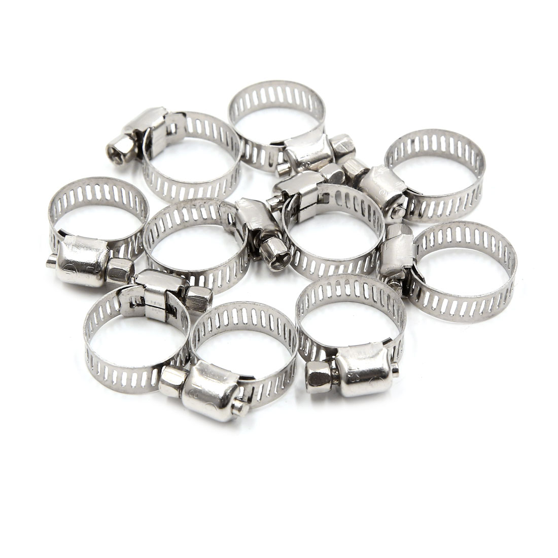 10pcs 13 19mm Stainless Steel Car Vehicle Drive Hose Clamp