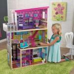 Kidkraft Wooden Super Model Dollhouse With 11 Accessories Included Walmart Com Walmart Com