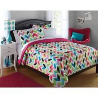 Your Zone Bright Chevron Bed in a Bag Bedding Set ...