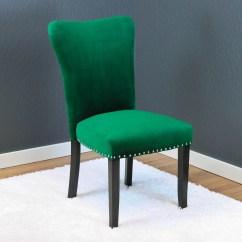 Emerald Green Velvet Chair Bar Chairs Walmart Aalten Dining Set Of 2
