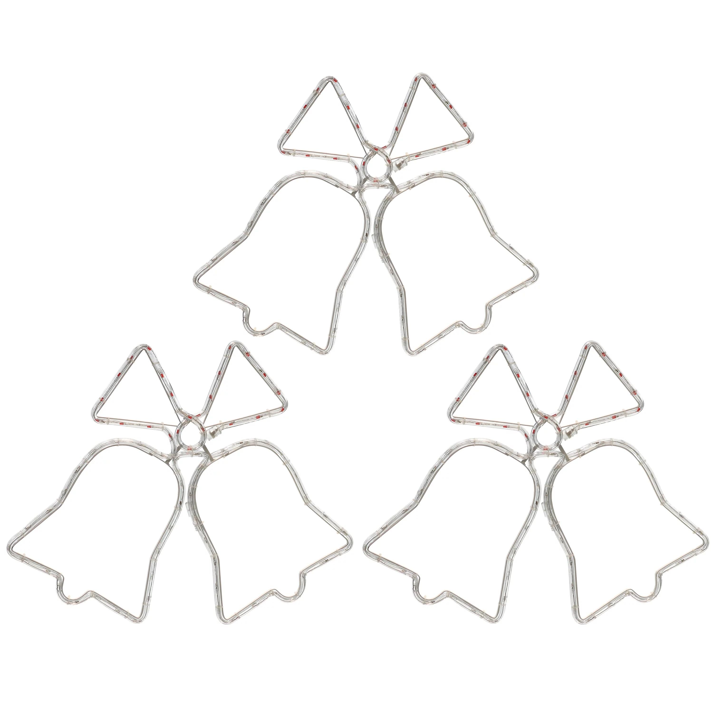 Sunnydaze 3 Bells Christmas Hanging Light Display For