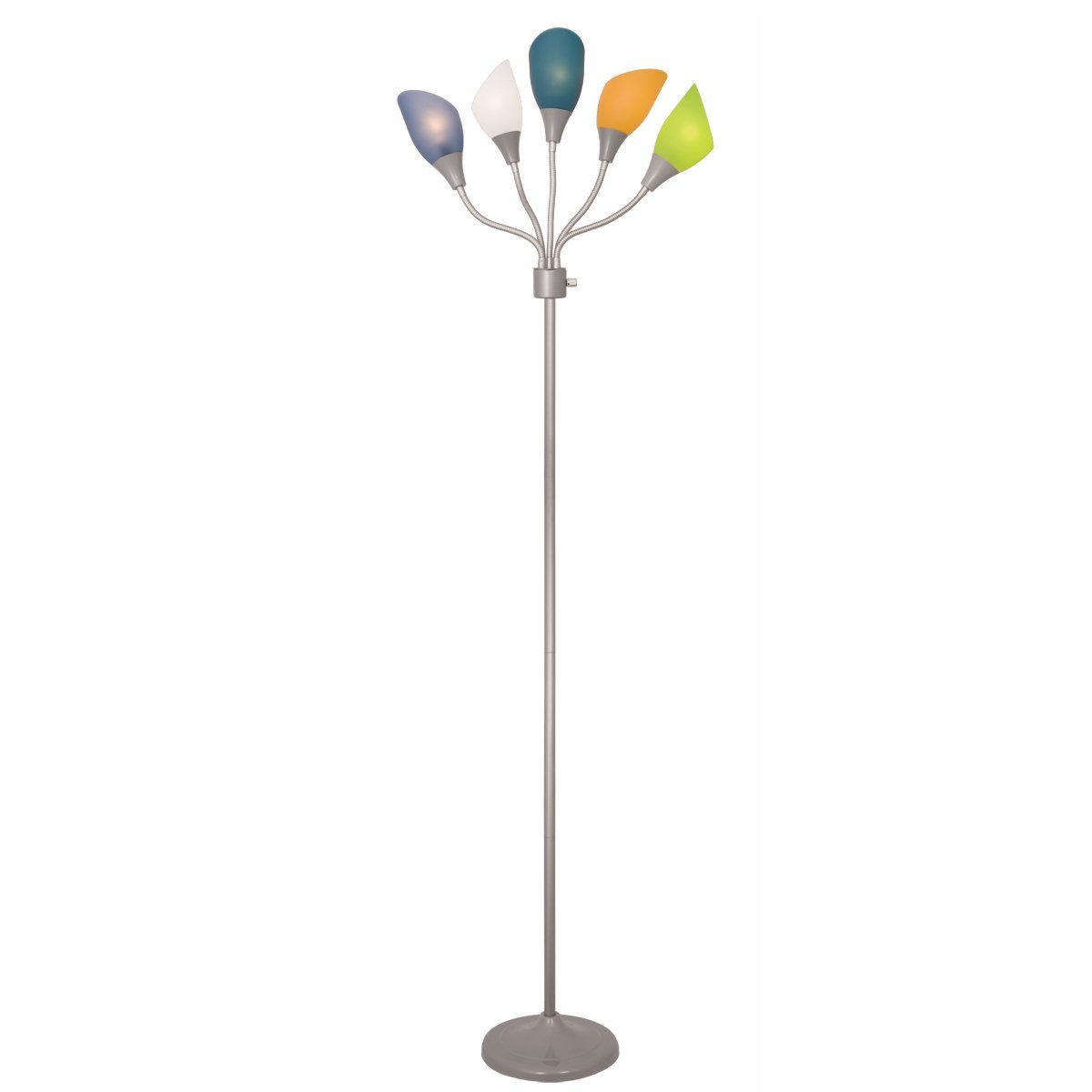 Light Accents Medusa Grey Floor Lamp with Multicolor