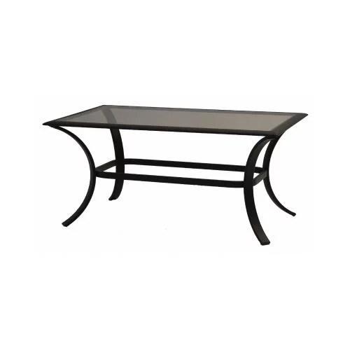 patio master akh09810k01 bellevue patio collection glass top coffee table espresso aluminum 24 x 40 in quantity 1