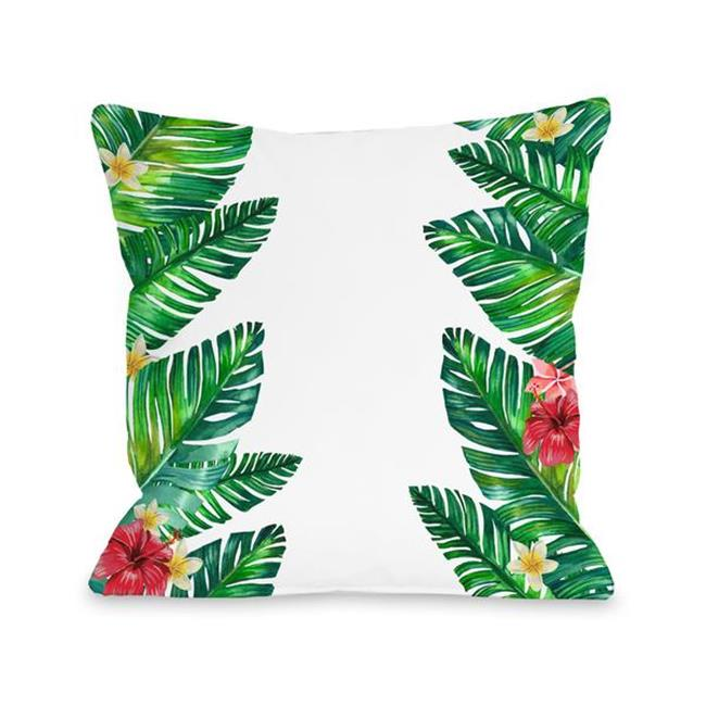 16 x 16 in tropical palm leaves pillow multicolor