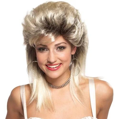 rocker groupie '80s blonde wig