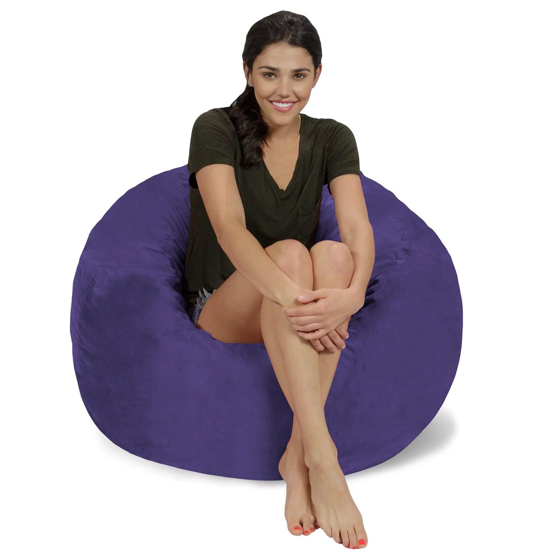 foam bean bag chair bedroom for gaming relax sacks memory 3 ft walmart com