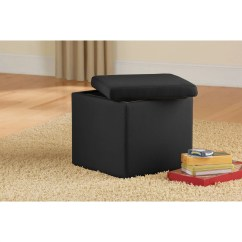 Suede Living Room Furniture Cheap Sets Under 500 2 Mainstays Faux Ultra Storage Ottoman Multiple Colors Walmart Com