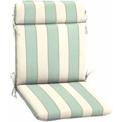 Outdoor Patio Wrought Iron Chair Pad Steel Feet Better Homes And Gardens Seashells Stripe Walmart Com