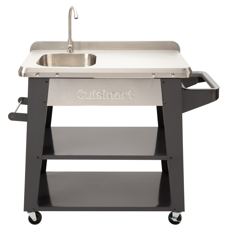 cuisinart deluxe outdoor bbq prep table walmart com