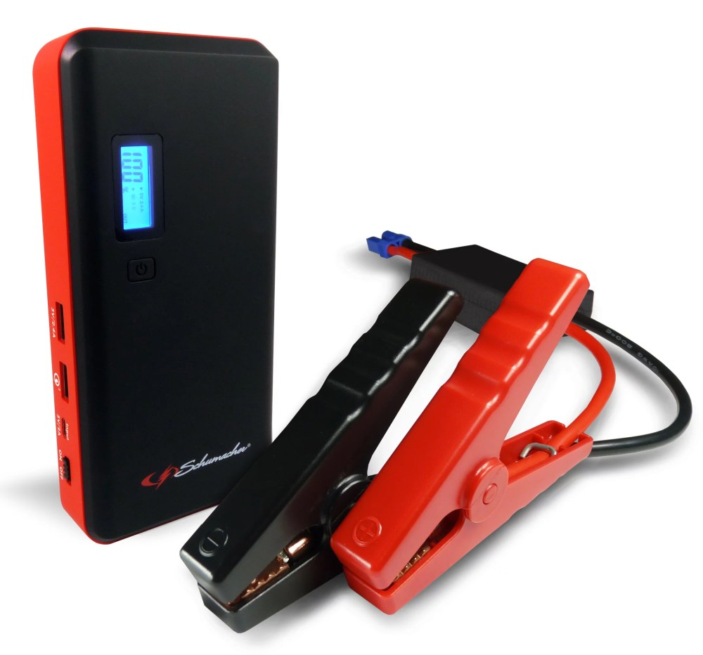 medium resolution of schumacher 800 amp li ion jump starter with usb ports and lcd display walmart com