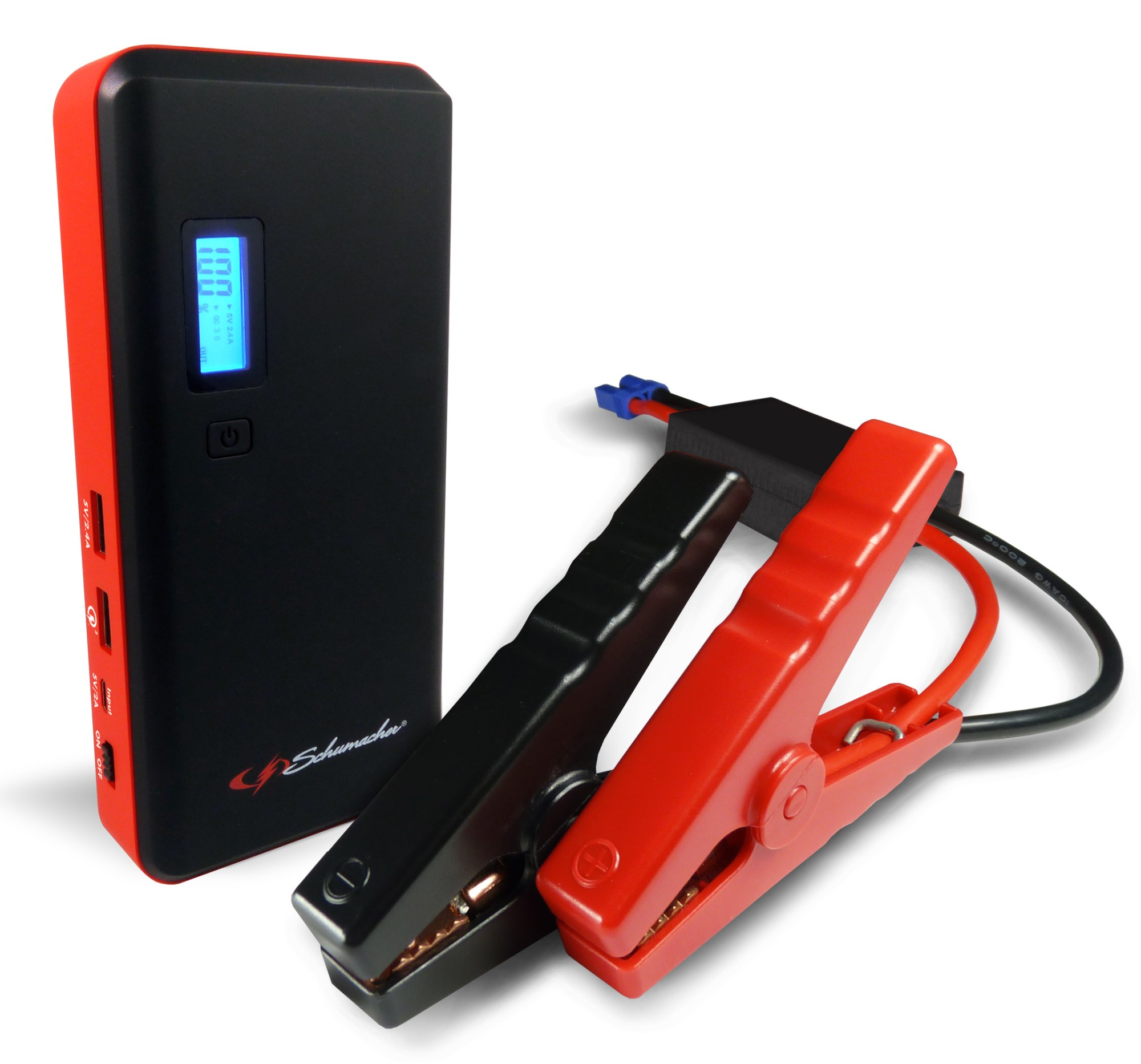 hight resolution of schumacher 800 amp li ion jump starter with usb ports and lcd display walmart com
