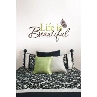 "WallPops ""Life Is Beautiful"" Wall Art Decals - Walmart.com"