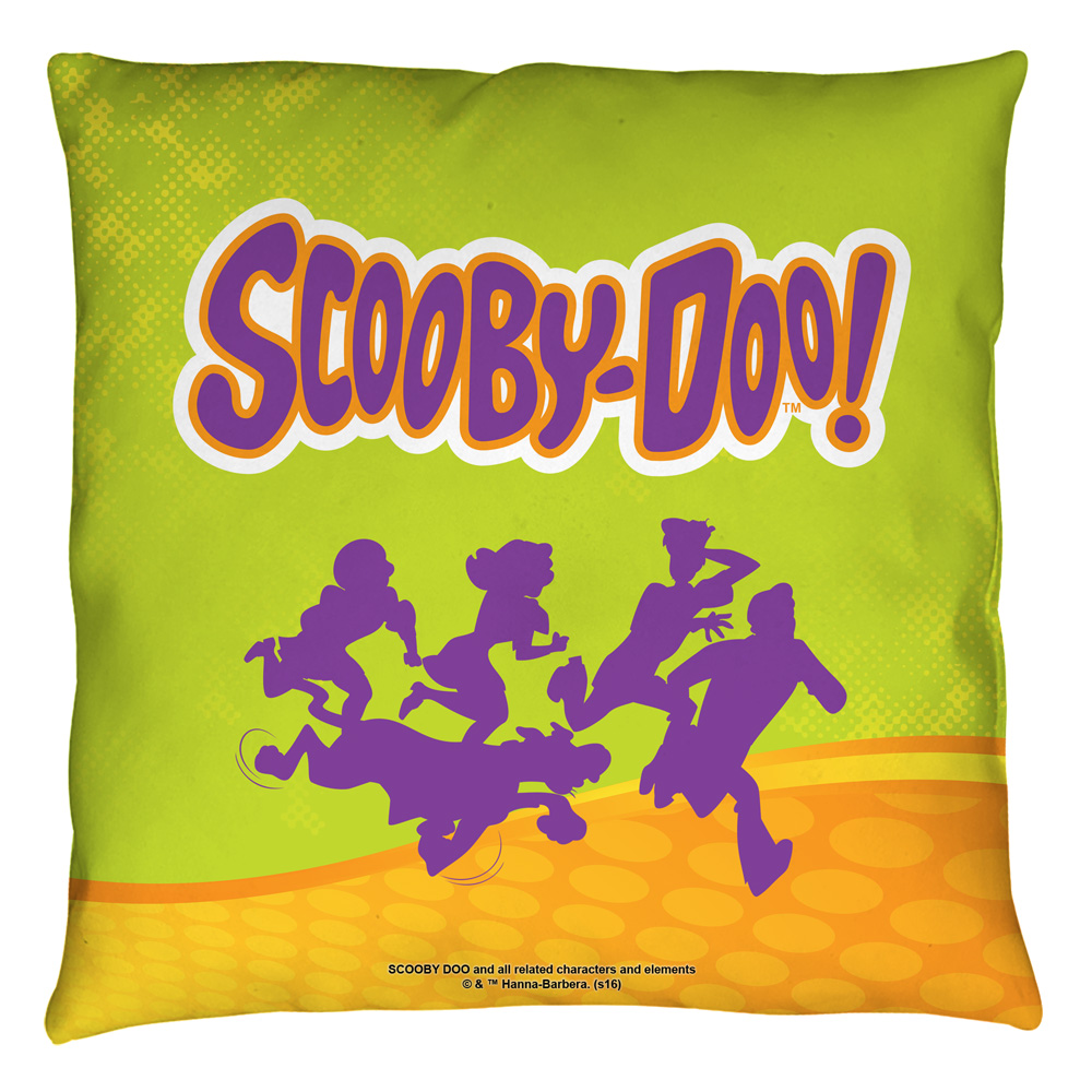 Scooby Doo Running Scared Throw Pillow White 26X26