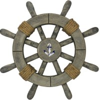 Handcrafted Nautical Decor Rustic Decorative Ship Wheel