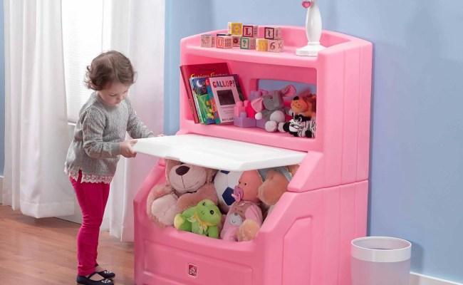 Lift Hide Bookcase Storage Chest Pink Red Blue Toy Kids