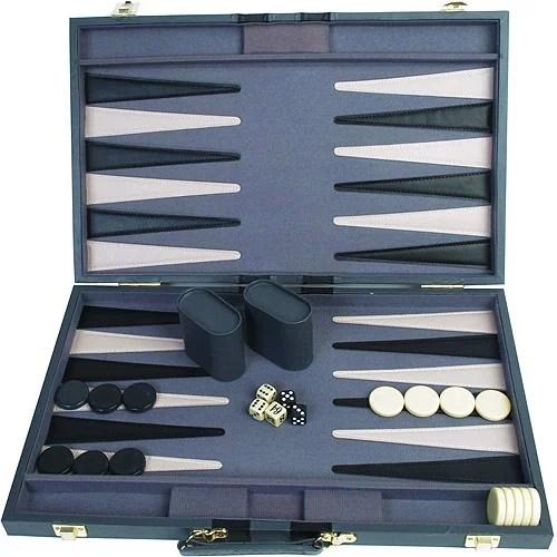 Classic Games Collection 21 Attache Backgammon Set