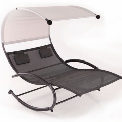 Rocker Outdoor Chairs Eames Lounge Chair Belleze Double Chaise Patio Furniture Seat Canopy Pool Swing Steel Walmart Com