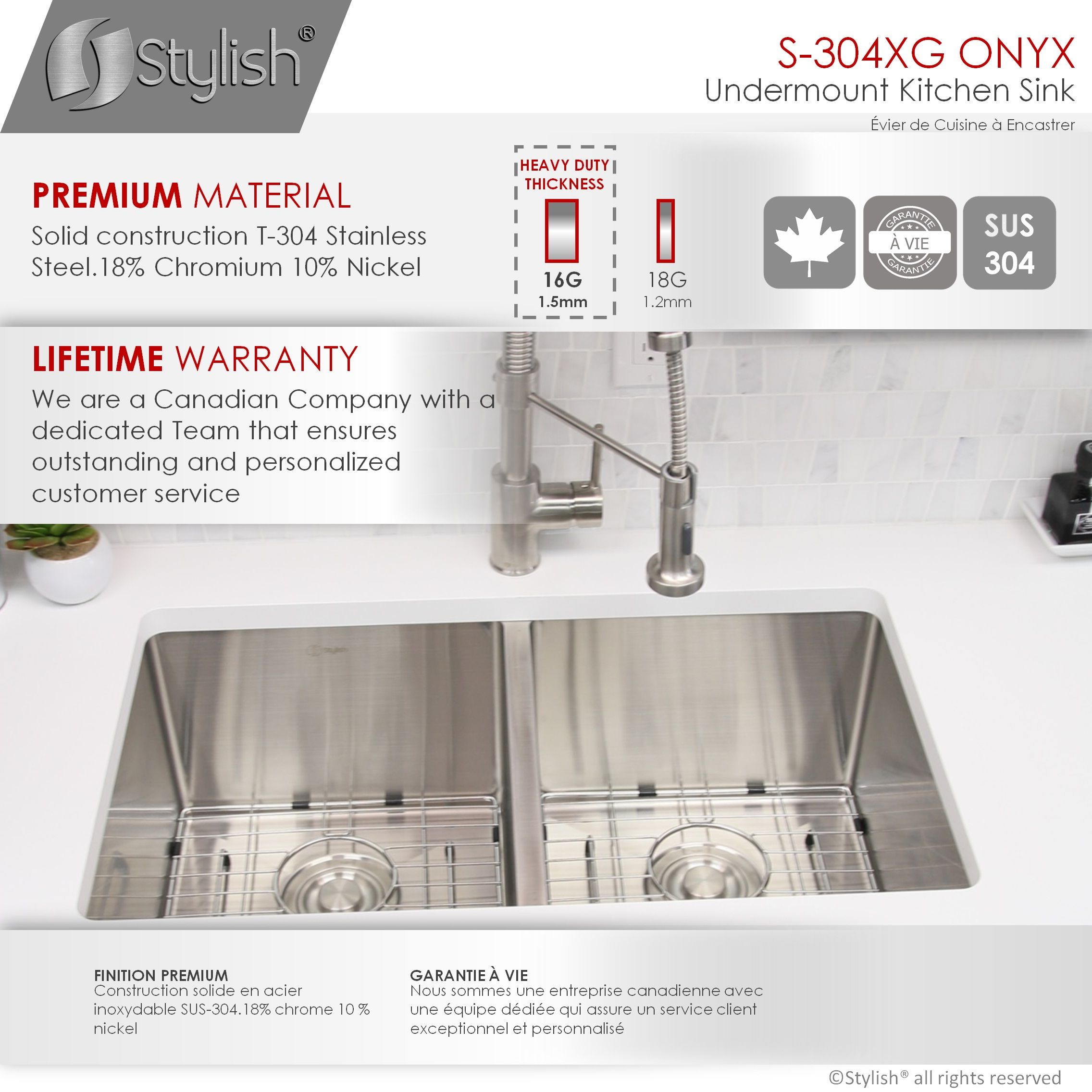 stylish 30 inch double bowl undermount stainless steel kitchen sink