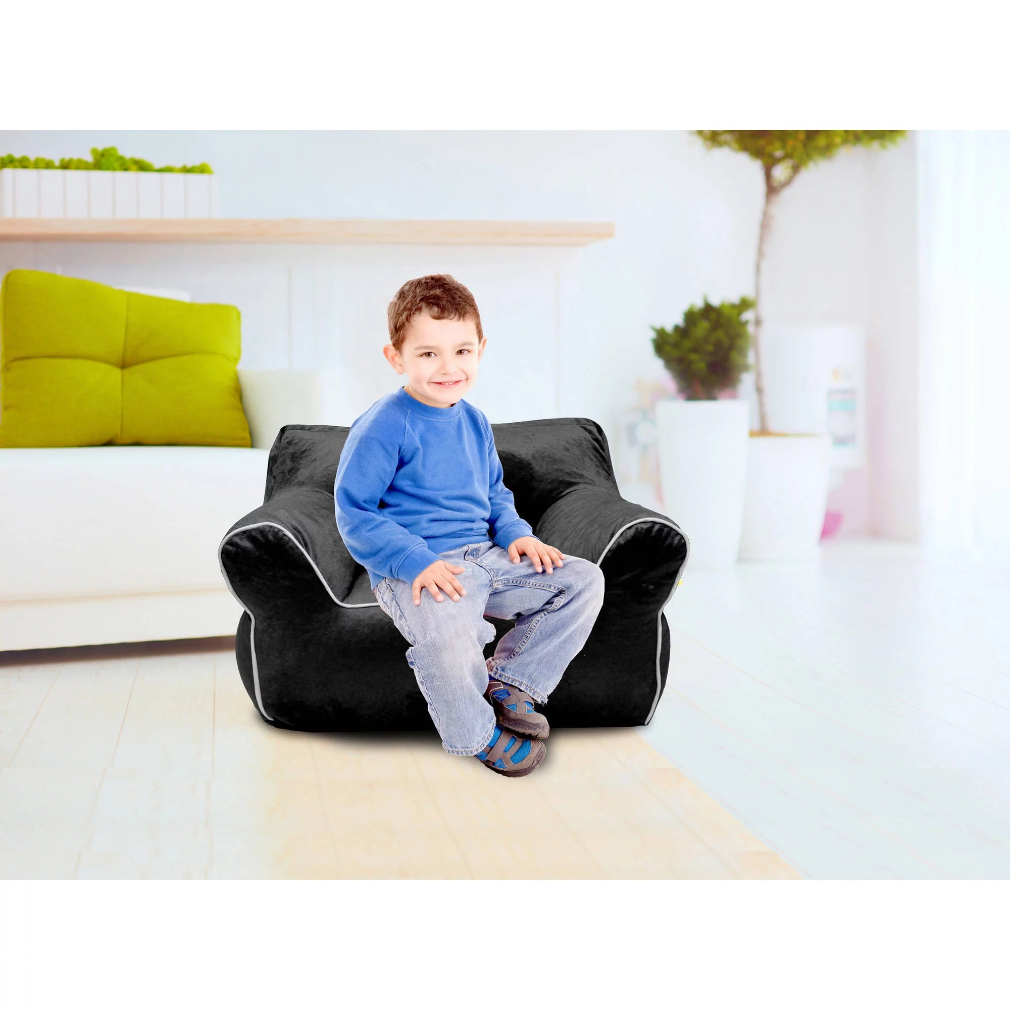Bean Bag Chair For Kids American Kids Bean Bag Chair With Piping Multiple Colors