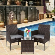 ubesgoo 3-pcs resin wicker chairs