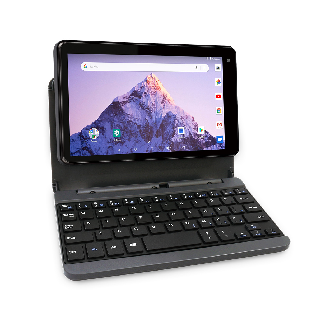 RCA Voyager 7″ 16GB Tablet with Keyboard Case – Android 8.1, Charcoal