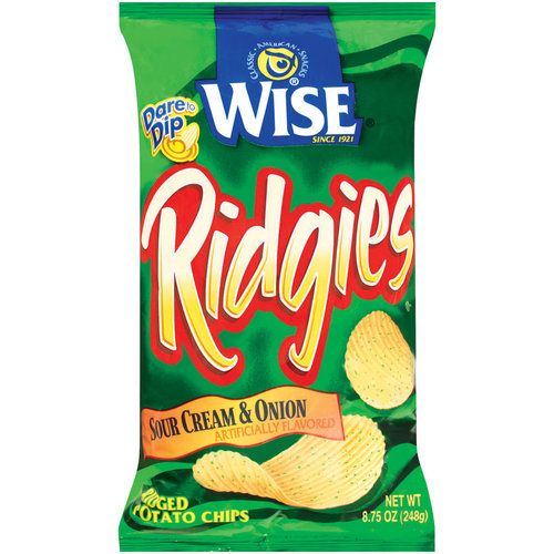 Wise Ridgies Sour Cream Onion Ridged Potato Chips 875