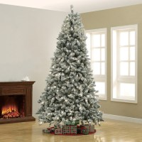 Better Homes&gardens 9.0ft Pre-lit Winter Frost Pine Tree ...