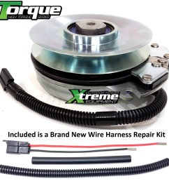 bundle 2 items pto electric blade clutch wire harness repair kit replaces warner 5218 241 pto clutch upgraded bearings w wire harness repair kit [ 1500 x 1522 Pixel ]