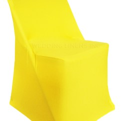 Chair Covers For Folding Chairs Wedding Breakfast Nook Tables And Linens Inc 5 Pcs Spandex Fitted Lycra Stretch Elastic Party Decoration Canary Yellow Walmart Com