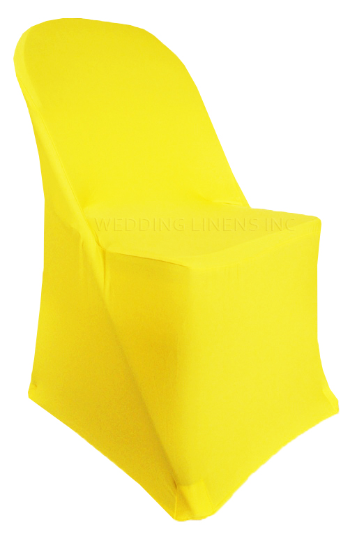 fitted chair covers for cheap hanging amart wedding linens inc 5 pcs spandex folding lycra stretch elastic party decoration canary yellow walmart com