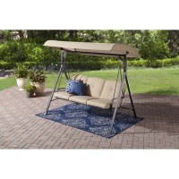 Mainstays Forest Hills 3-Seat Cushion Canopy Porch Swing ...