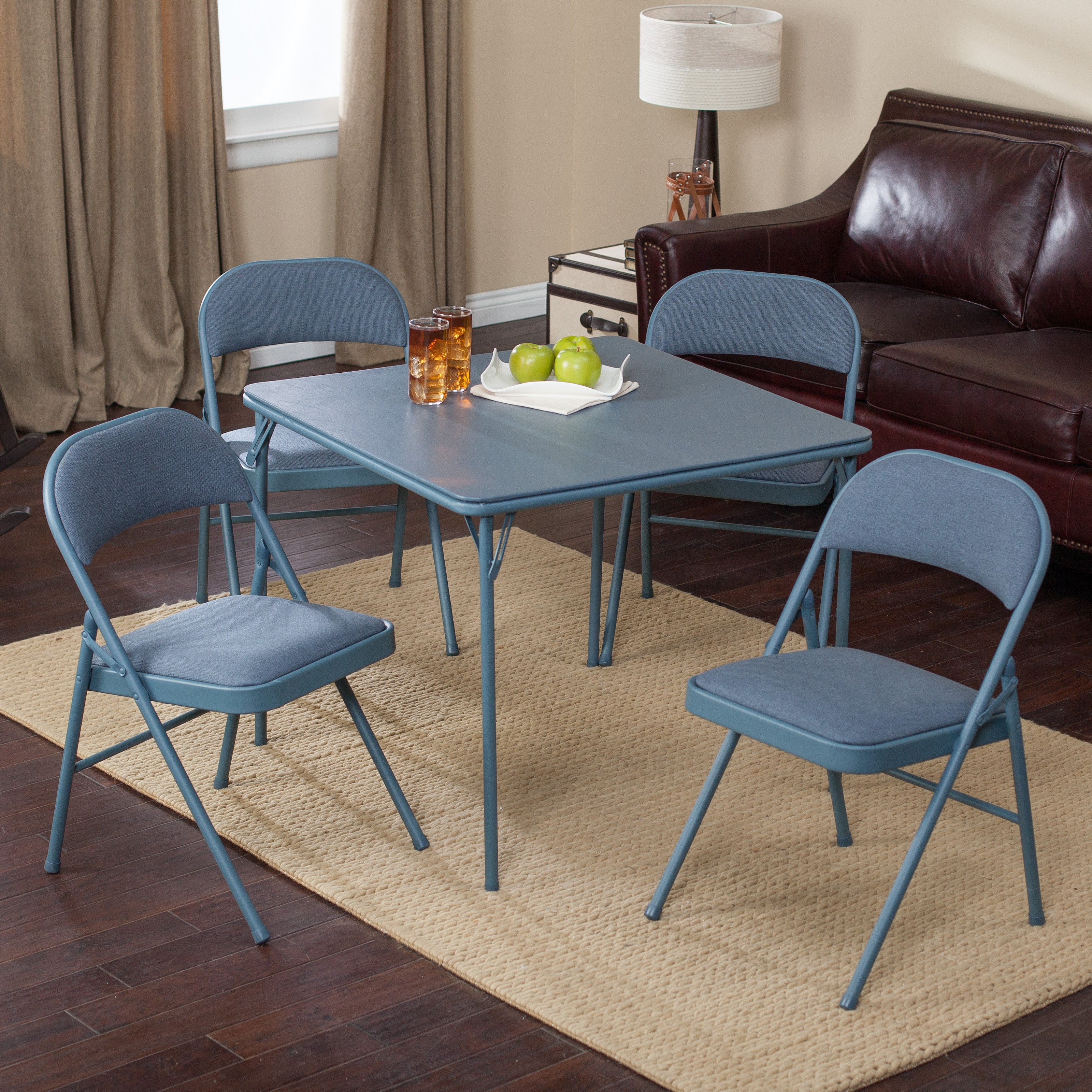 folding card table and chairs ergonomic chair high back cosco tables