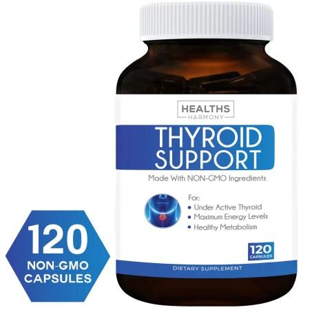 أفضل مكملات دعم الغدة الدرقية (NON-GMO) 120 كبسولات: تحسين الطاقة وزيادة الأيض لتخفيف الوزن – Iodine & Ashwagandha Root for Thyroid Well being 6955546c a120 48bd aa29 3f4f9eb66dc3 1