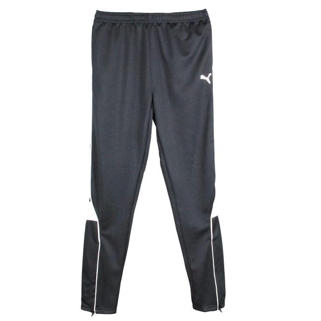 PUMA Big Boys Activewear Active Bottoms- Athletic Mesh Pants - Pure Core Soccer Pants - Black - Large